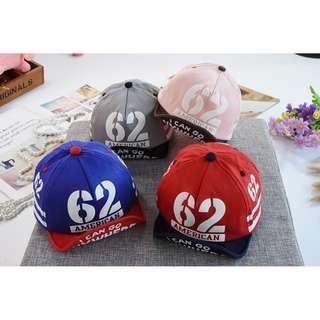 夏季兒童62數字棒球帽