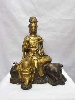 大宣年 明德製 觀音菩薩古董佛像