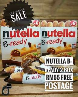 Nutella B Ready 2 RM55 boxes free postage