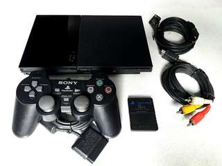 Ps2 playstation 2 slim 220v scph9006 with 10 games
