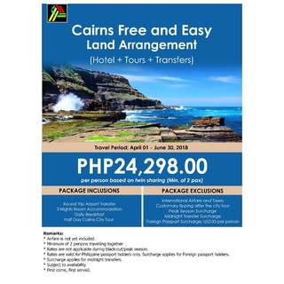 Cairns Free and Easy Land Arrangement