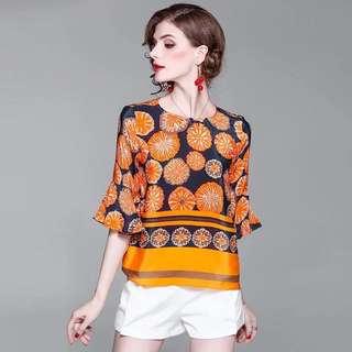 Luxe silk blouse top