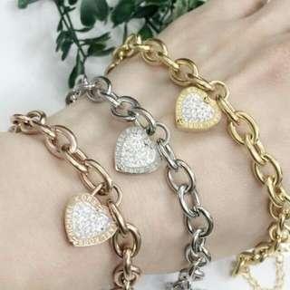 Mk heart bracelet