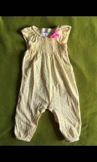 Carter's 荷邊袖連身衣 二手  9個月