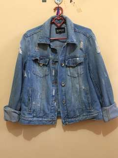 Jacket denim stradivarius , jaacket jeans