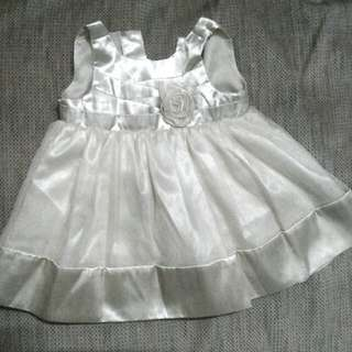 Pale Gold baby dress (6 to 12 months)