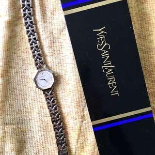 Yves Saint Laurent 中古六角形款 vintage watch 女裝手錶