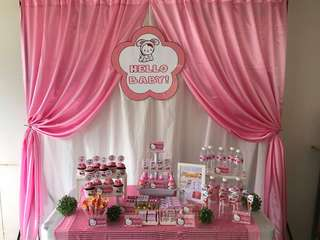 Backdrop and Cake Table Hello Kitty Party