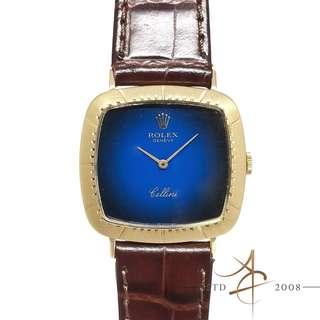 Rolex Cellini Ref 4084 Midnight Blue Dial 18K Gold Watch