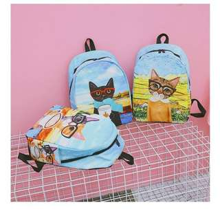 cat color backpack
