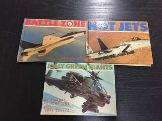 Lot of 3 Military Aircraft Books Hardcover Full Colour