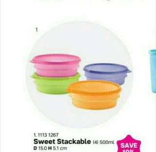 Sweet stackable loose/set