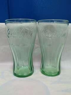 絕版全新美國製造 LIBBEY 綠色可口可樂 COCA COLA 16oz 玻璃杯 1 件