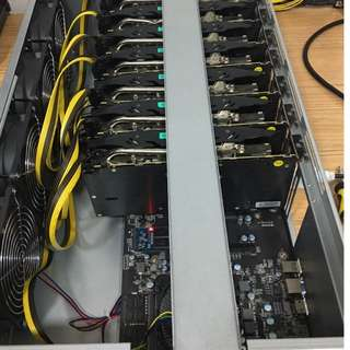 Mining Server Case Rig, RX 580 x 8 GPUs