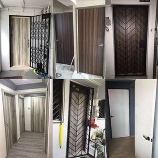 Solid doors with laminate finish