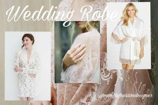 Wedding robe / kimono untuk bride to be