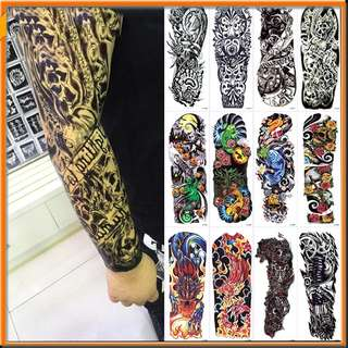 Large Temporary Tattoos Sticker Men Arm Sleeves lelft Shoulder Fake Tattoo Body Art sticker Twinset 3d Fake Totem