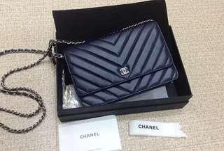 Chanel 2018 Classic WOC Lambskin Navy Blue