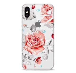 夏日鮮花全包透明軟殻 iPhone Case 7/7 Plus/6/6 Plus 8/X case