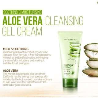 NATURE REPUBLIC Soothing & Moisture Aloe Vera Cleansing Gel Cream
