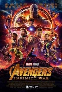 Avenger Infinity War Block Screening Tickets with Freebies (TRINOMA CINEMA)