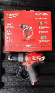 Milwaukee M12 FUEL compact 2 speed percussion drill, SOLO  unit.