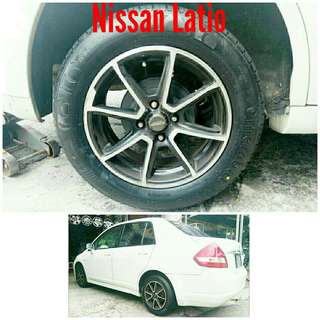 Tyre 185/65 R15 Membat on Nissan Latio 🐕 Super Offer 🙋‍♂️