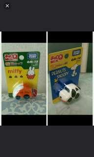 Tomy~Miffy/Snoopy car