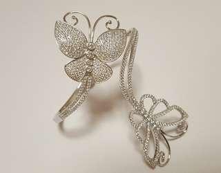 silver bangle rose gold