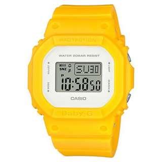 CASIO Baby-G BGD-560 series BGD-560CU BabyG 黃色 BGD560CU
