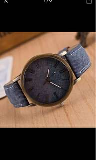 Ladies Denim Brand New Watch blue