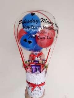 Chocolate and bear balloons