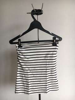 H&M Strapless Top Stripes