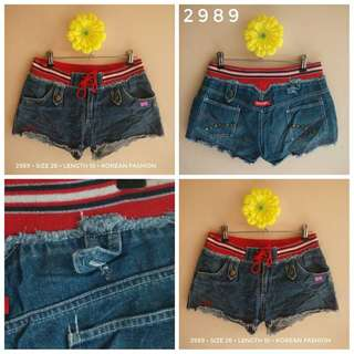 2989 DENIM SHORTS