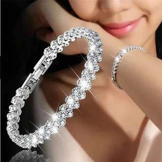 Diomedes Crystal Bracelets Women Gold/Silver Plated Link Bracelet Bangle Fashion Rhinestone Jewelry For Women 2017 Gift #23