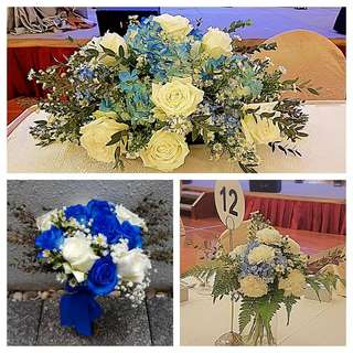 Wedding package - Wedding bouquet & Table florals