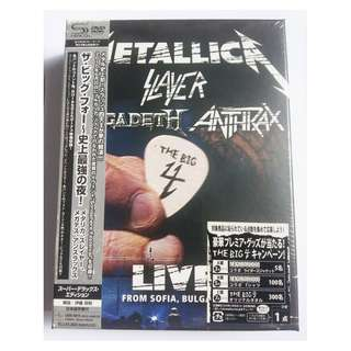 Japan Limited Edition issue! SEALED! 5 CD + 2 DVD box set! THE BIG 4 Metallica MEGADETH Slayer ANTHRAX  Ultra Rare