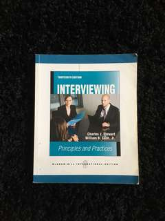 Interviewing Principles & Practices 13th Edition