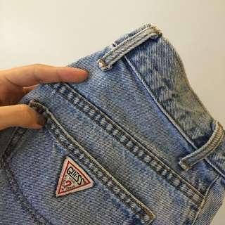 Guess High Waisted Denim Shorts