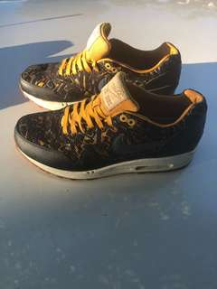 Yellow and black  limited edition nikes