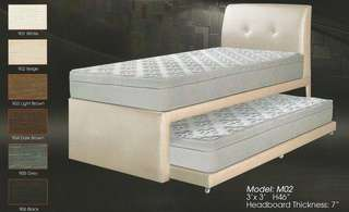 Divan Bed single size with pull out - M02