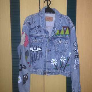 Levi's Denim Jacket with DIY Painting
