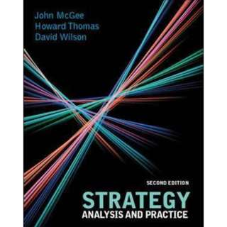 Strategy Analysis And Practice Textbook Second Edition