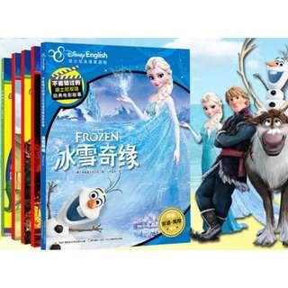 5 Books set - Bilingual English / Chinese Disney Story Books