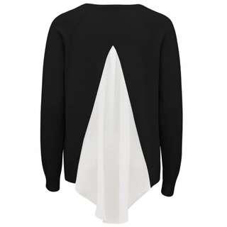 Spliced Drape Back Sweater