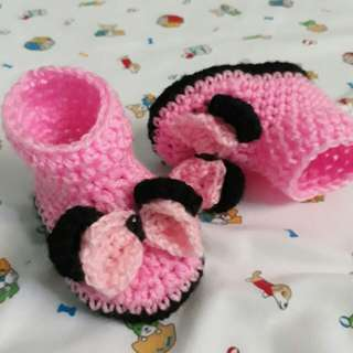 Crochet Minnie Mouse Boots 👢