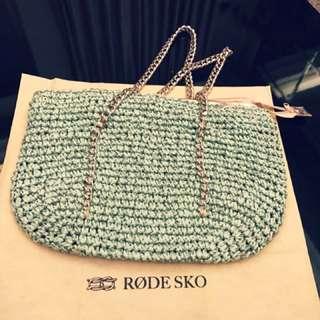 日本品牌RODE SKO/Tiffany綠 海灘編織包❤️