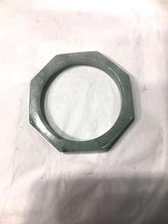 (中古)天然A玉八角型手厄(size 58)