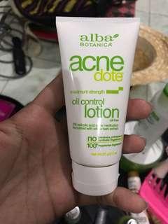 "Repriced!! ""Alba Botanica"" oil control lotion"