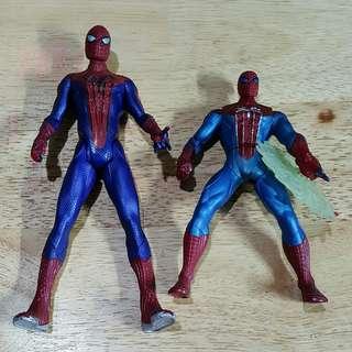 Loose Spiderman figures by Hasbro